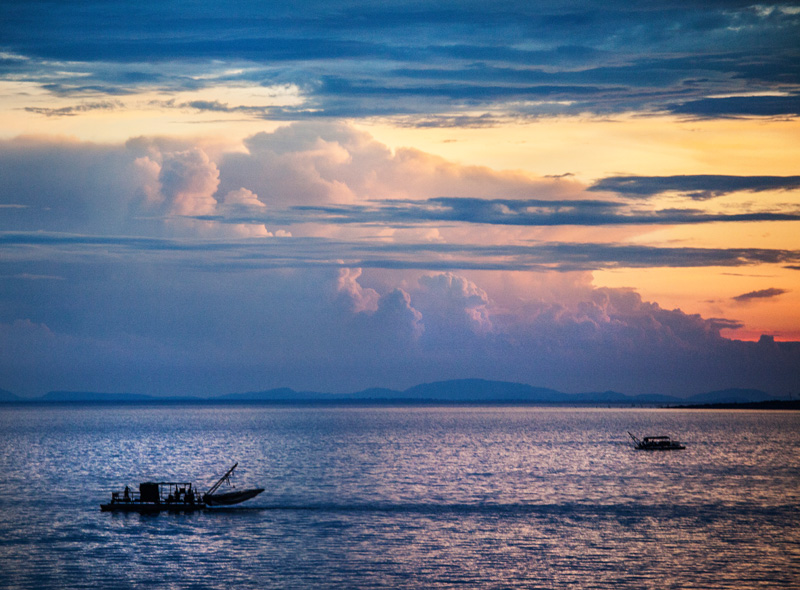 fishing boats on out Lake Kariba
