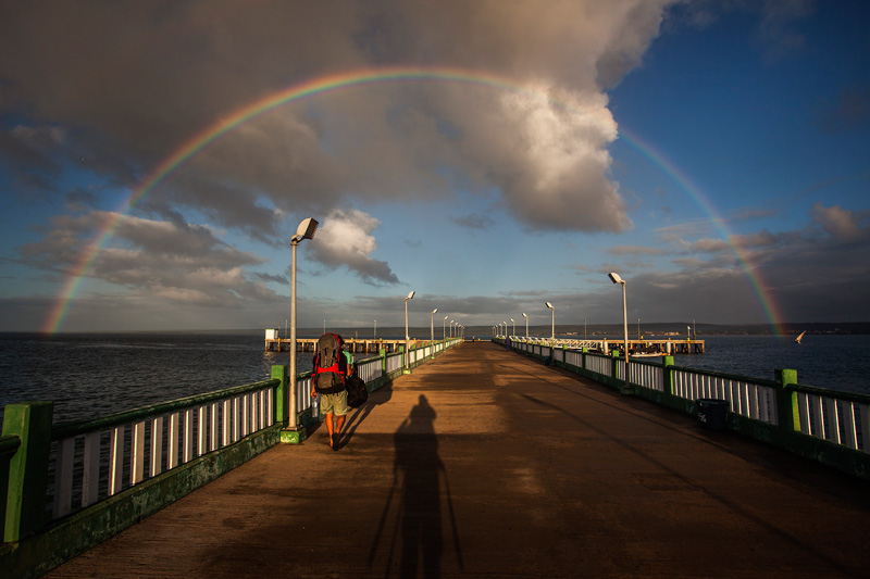 awesome rainbow at the pier