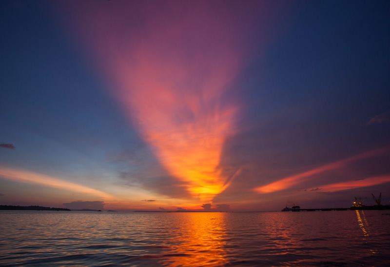You still get some very nice sunsets in Sihanoukville