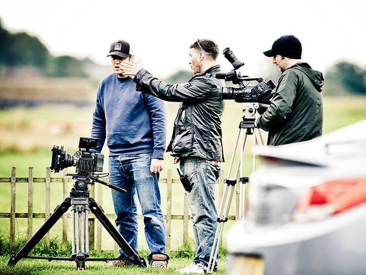 On location at Sutton Airfield