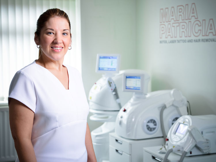 Laser tattoo removal specialist Maria Patricia
