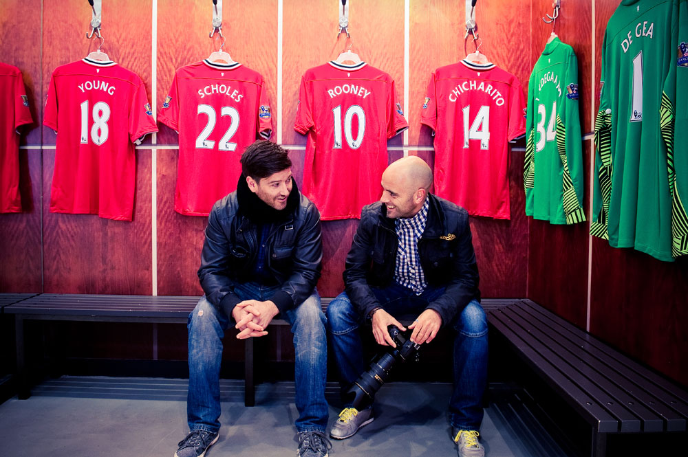 Tim and Jay at Manchester United