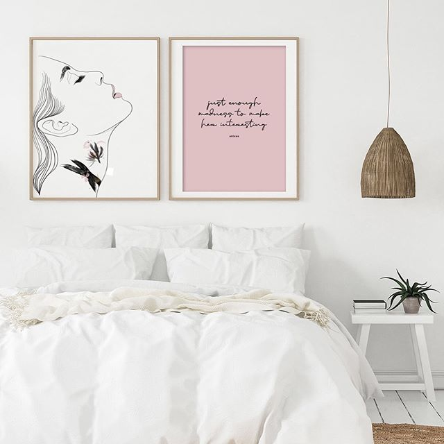 """Just enough madness to make her interesting."" atticus. Some newbies for a rainy Sunday night xx . . . .  #theprettyaddicted #prettydecir #minimalistdecor #minimalistprint #female #wallart #stylinginspiration #pinklover #feminine #pinkaesthetic #atticus #atticuspoetry #abstract #homedecor #freshstyledhome #freshstyle #minimalism #ihavethisthingwithpink #pinky #wallartdecor #decorationideas #decorcrushing"