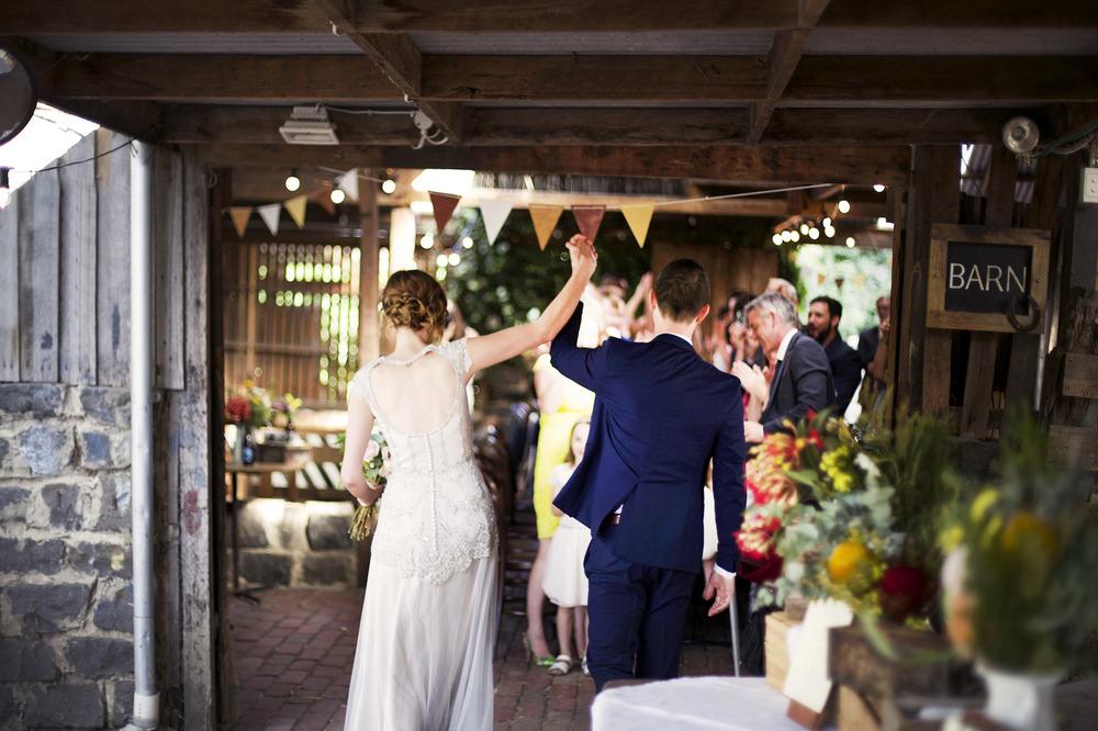 Sarah and Andy's rustic barn wedding