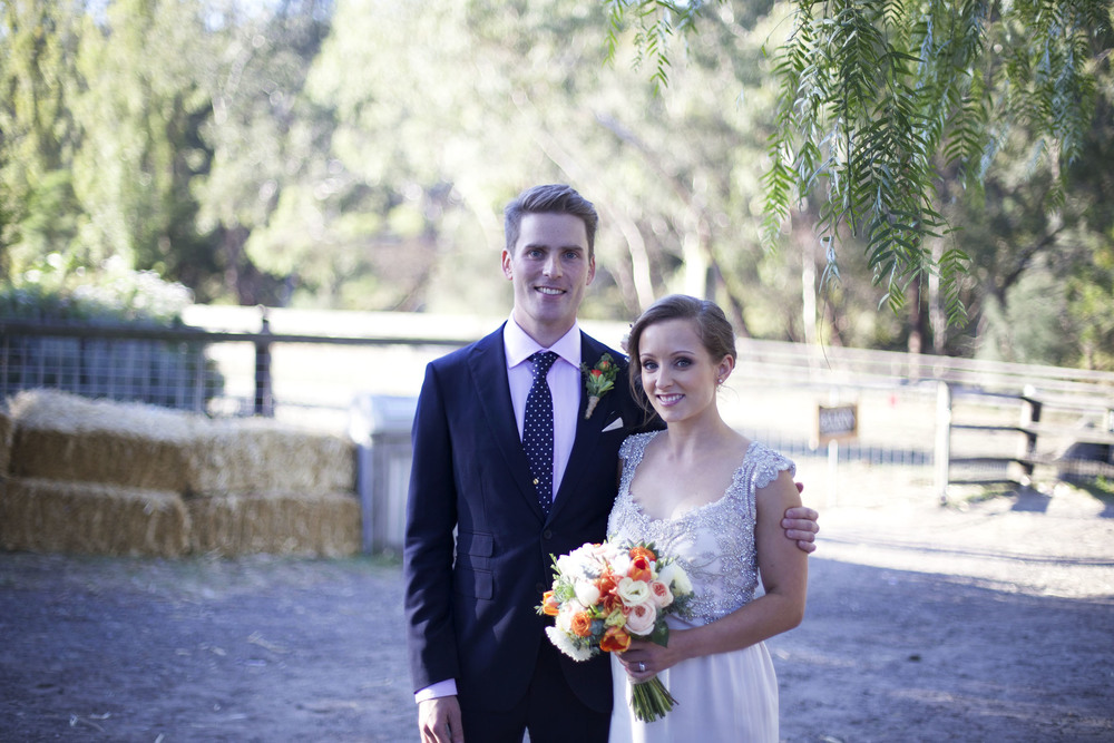 Cheryl and Campbell's vintage farm wedding