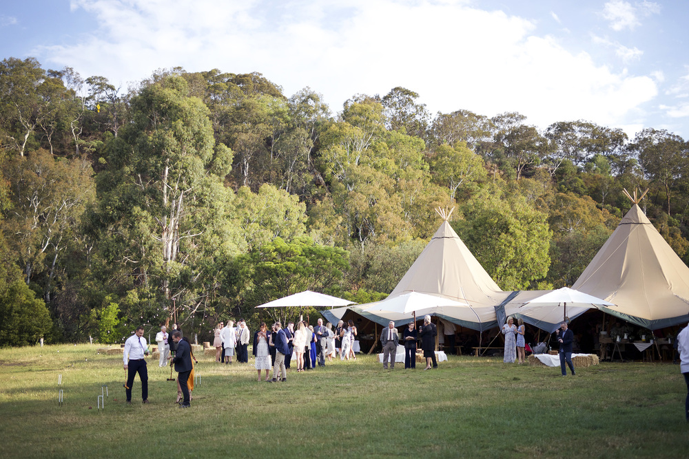 Photo by Kitty Wursthorn. Tipis by TipiKata