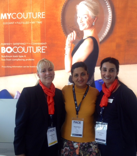 Dr Bains with the Merz pharmaceutical team, producers of Belotero filler and BoCouture toxin.
