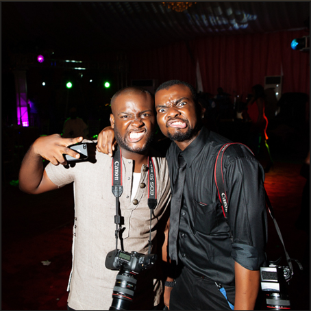 Jide Alakija and me at a wedding shoot