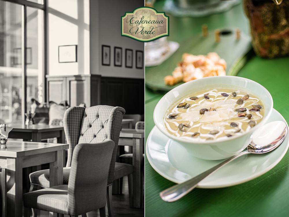 Supa crema de brocoli, cu seminte prajite de dovleac si parmezan