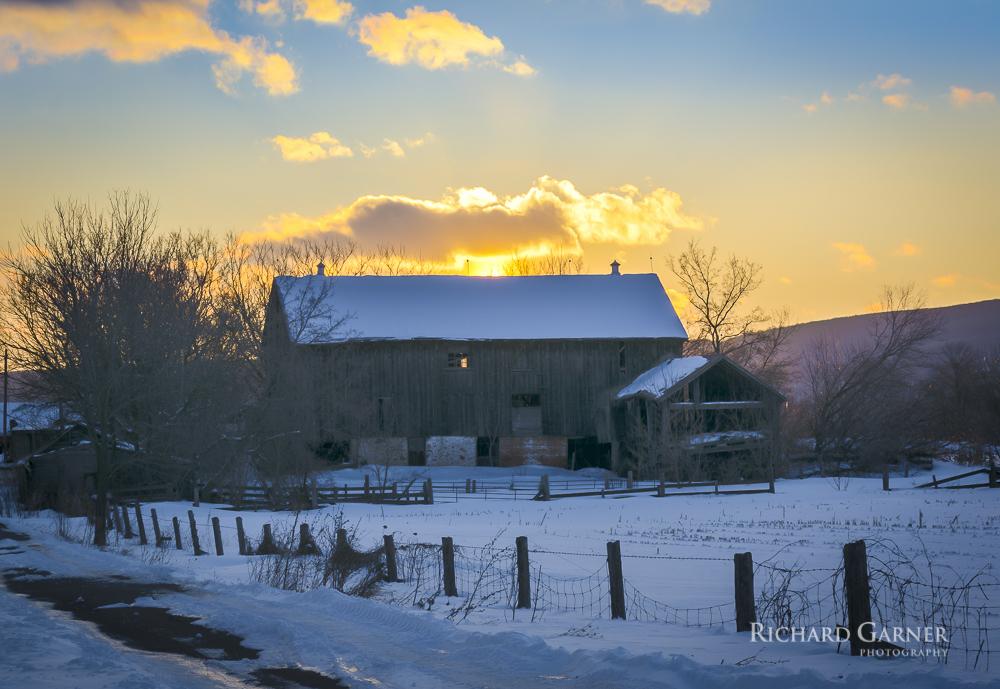 99 10th Line Winter Sunset