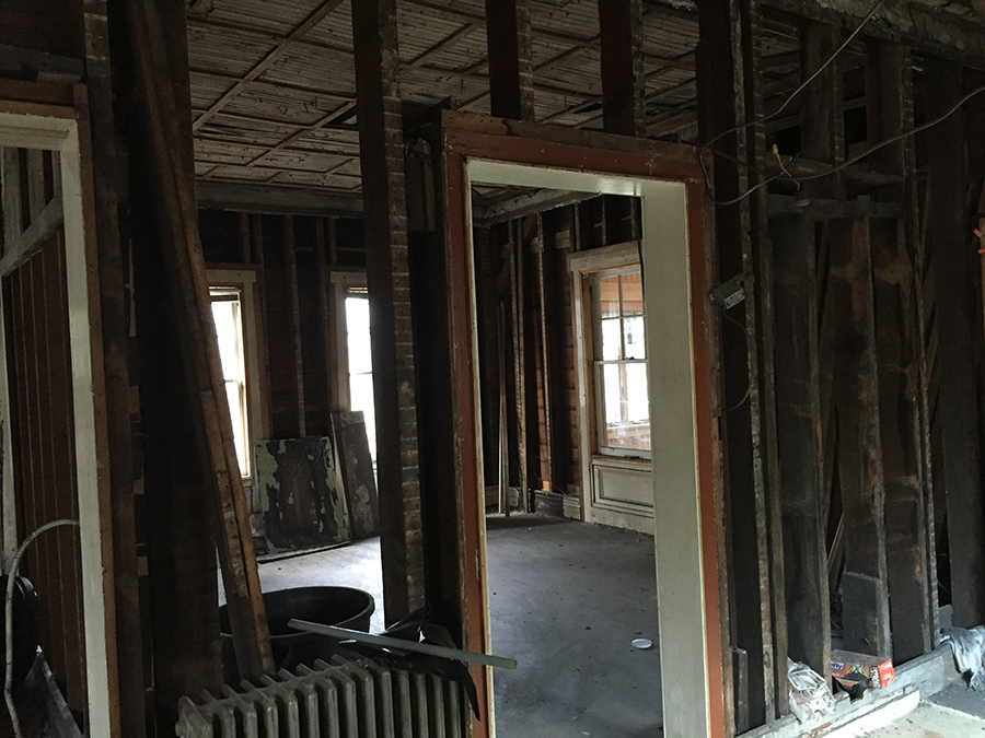 Wood floors throughout