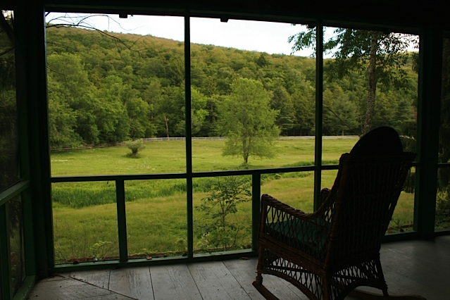 Captivating view from the screened porch of the Farmhouse.