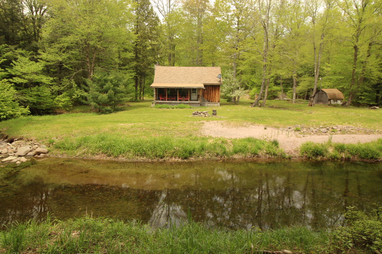 Denning double decker for sale - Denning Cabin Sold 1br Double Loft On The Neversink River Claryville Ny 169 000