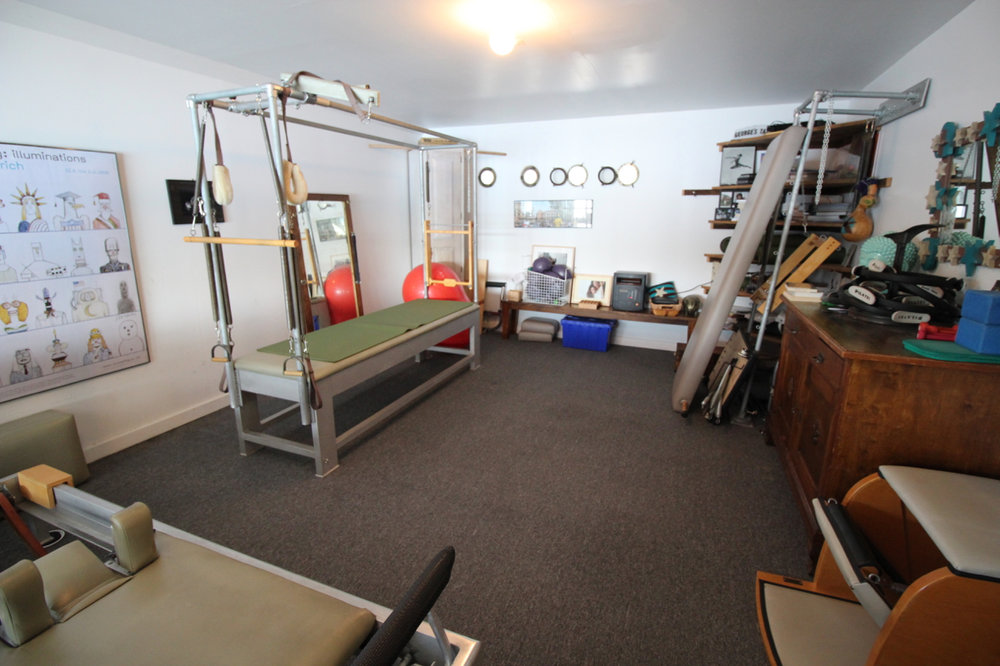 Former garage now used as exercise room.