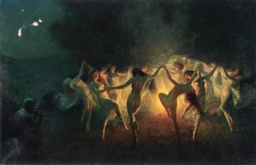 nymphs dancing to pan's flute joseph tomanek.
