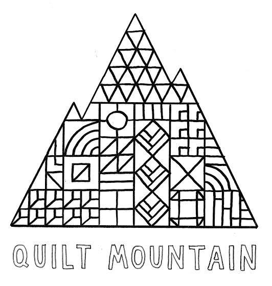 Quilt Mountain logodesigned by Sally England.