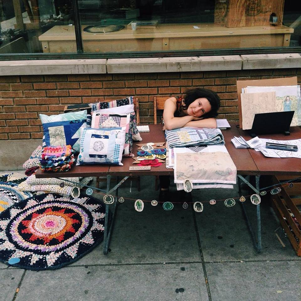My booth at Avenue for the Arts this summer. (I sold nothing that day)