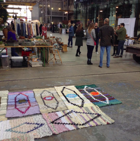 A craft fair at the Urban Outfitters headquarters.