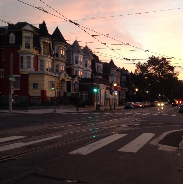 My veiw waiting for the trolly at 6am