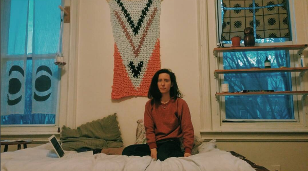 Photo of me in my room last winter taken by Alexis Doran.