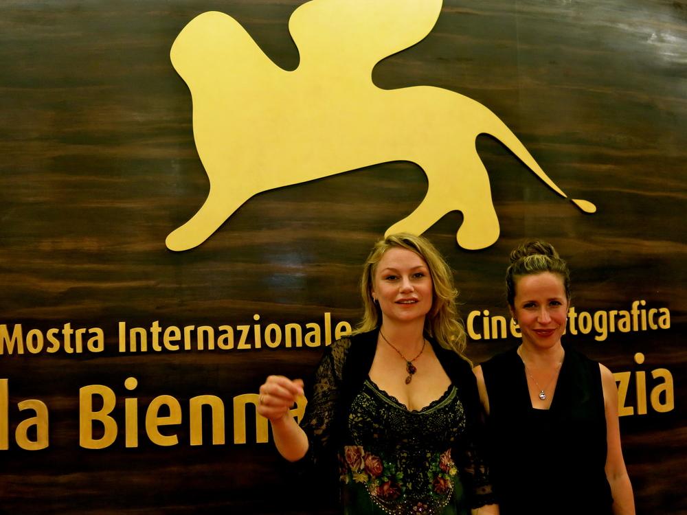 Malin Levanon and Minna Treutiger, Venice Filmfestival 2013.