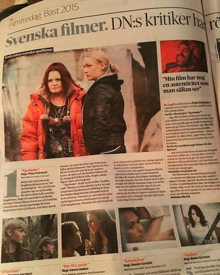 Tjuvheder rankad som årets film