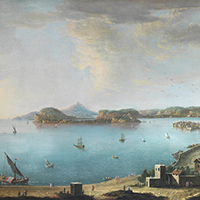 AntonioJoli Naples, a view of the city from Santa Lucia A view of the Gulf of Pozzuoli with the Island of Nisida