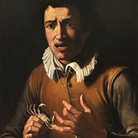 Bartolomeo Cavarozzi, circle of (circa1620s) A Boy bitten by a crab