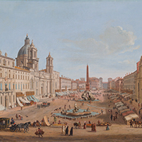 Gaspar Van Wittel, called Vanvitelli Rome, Piazza Navona with Palazzo Pamphilj and the churches of Sant'Agnese in Agone and San Giacomo degli Spagnoli