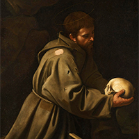 Michelangelo Merisi da Caravaggio Saint Francis in Meditation