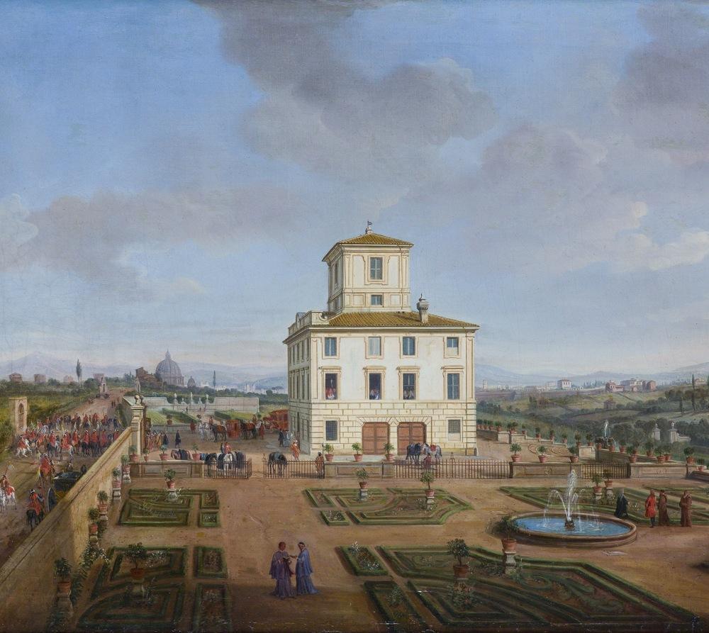 Gaspar van Wittel, called Vanvitelli The gardens and the Casino of villa Chigi - Massinaghi