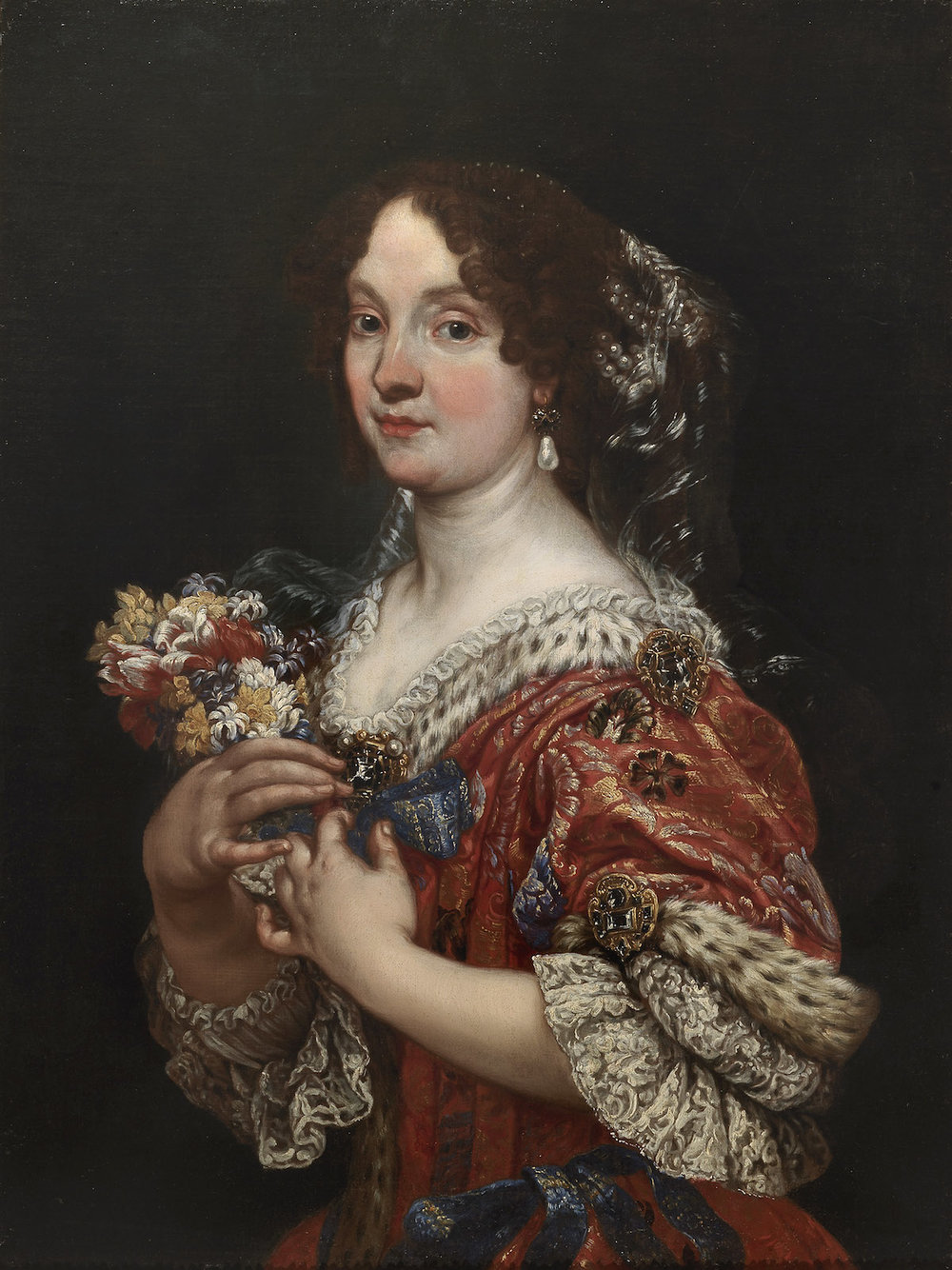 GIOVANNI BATTISTA GAULLI called BACICCIO   PORTRAIT OF ELEONORA BONCOMPAGNI BORGHESE
