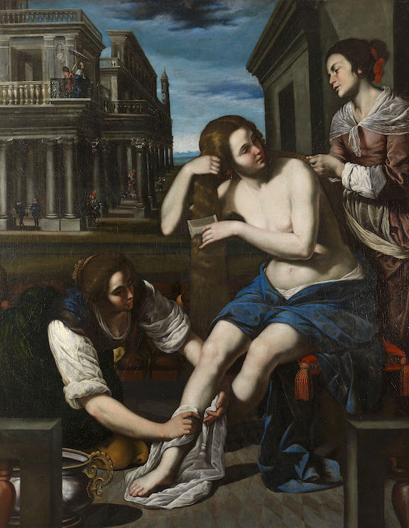 ARTEMISIA GENTILESCHI AND BERNARDO CAVALLINO BATHSHEBA AT HER BATH