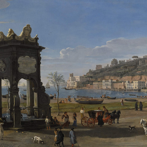 GASPAR VAN WITTEL, CALLED GASPARE VANVITELLI   NAPLES, A VIEW OF THE RIVIERA DI CHIAIA