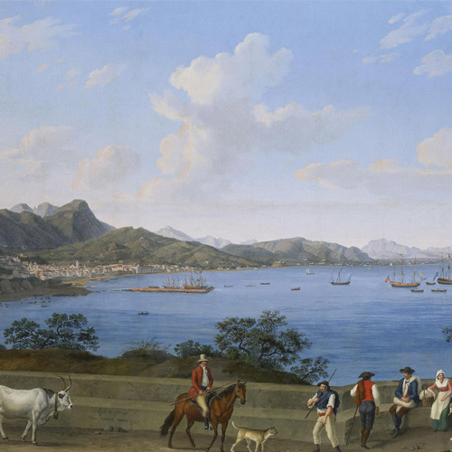 JAKOB PHILLIPP HACKERT   THE PORT OF SALERNO FROM VIETRI