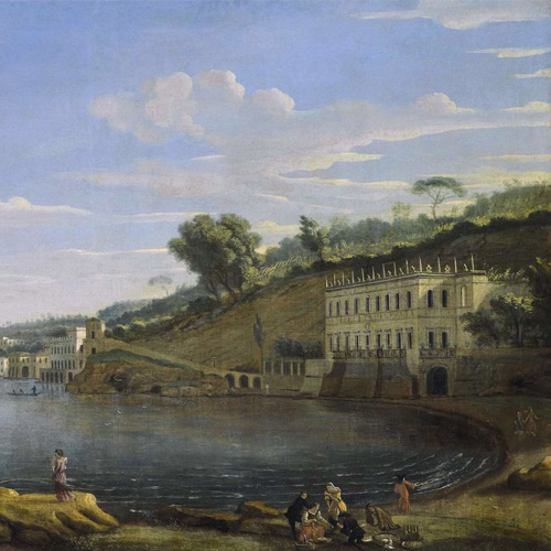 GASPAR VAN WITTEL, CALLED VANVITELLI   NAPLES, A VIEW OF VILLA MARTINELLI AT POSILLIPO
