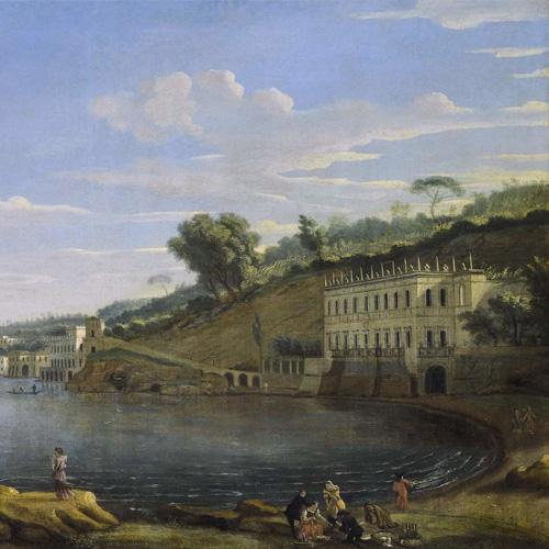 GASPAR VAN WITTEL, CALLED VANVITELLI   NAPLES, A VIEW OF VILLA MARTINELLI AT POSILLIPO