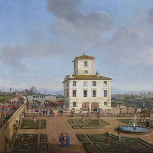 GASPAR VAN WITTEL, CALLED VANVITELLI    THE GARDENS AND THE CASINO OF VILLA CHIGI MASSINAGHI