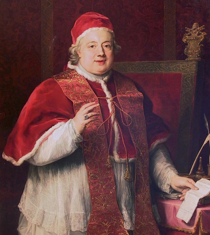 POMPEO GIROLAMO BATONI   PORTRAIT OF POPE CLEMENT XIII REZZONICO