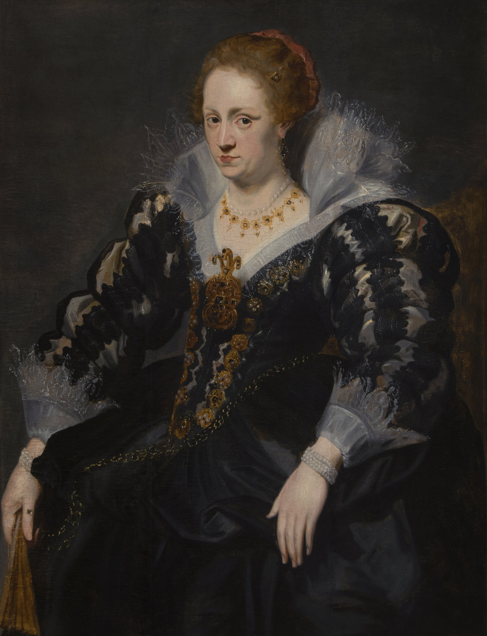 SIR ANTHONY VAN DYCK, ATT. TO   PORTRAIT OF JAQUELINE VAN CAESTRE, WIFE OF JEAN CHARLES DE CORDES