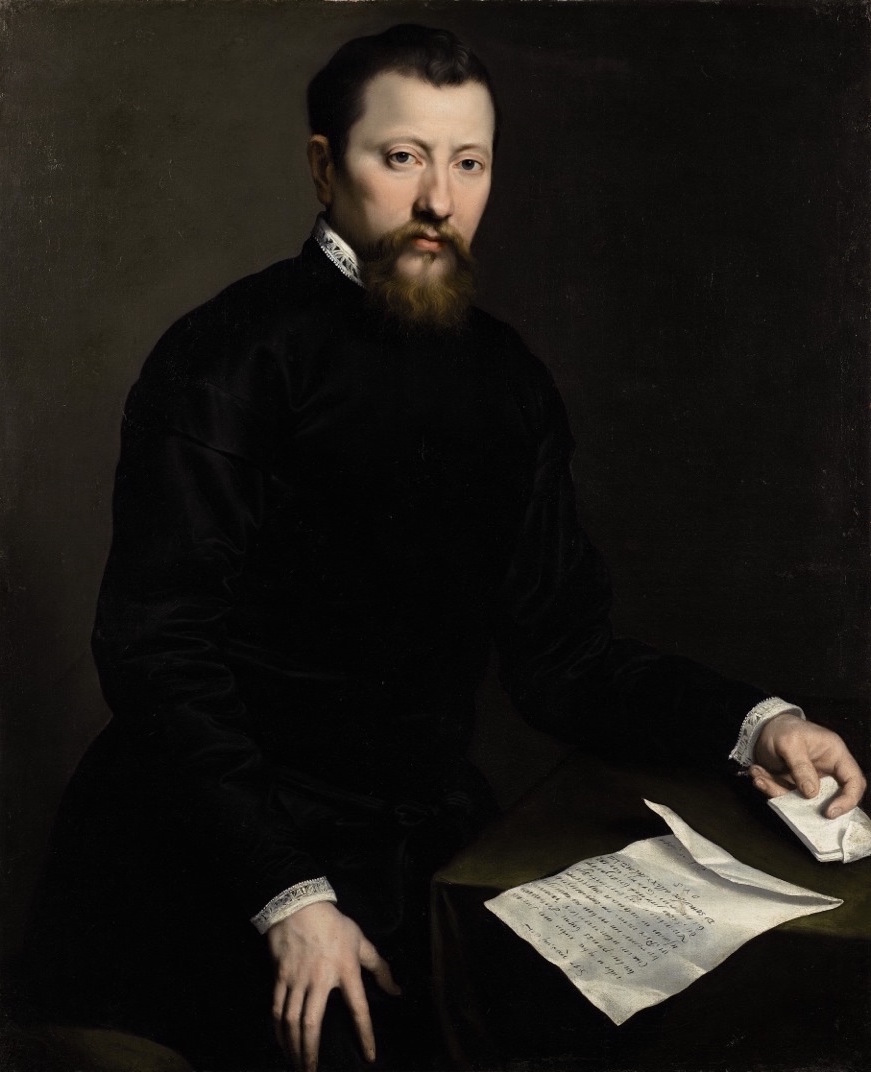 GIOVANNI BATTISTA MORONI, ATT. TO   PORTRAIT OF A MAN HOLDING A LETTER