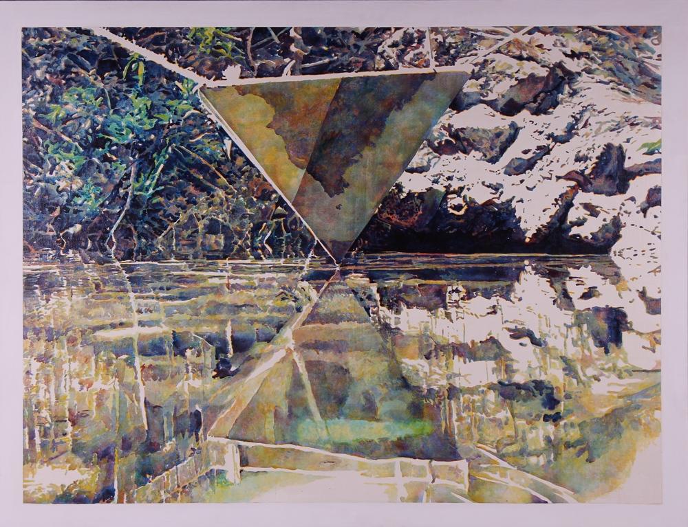 77006 Secrets of the Pyramid Revealed (Visual Aid)  1977   Acrylic on Canvas 40%22x52%22.JPG