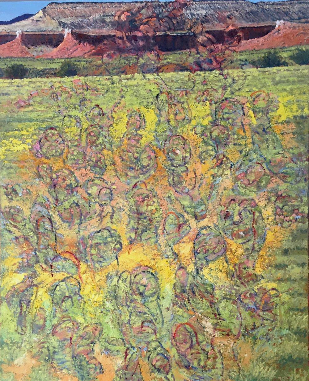"Internally Proliferating Deviations Considered 2016  oil on canvas  30"" x 24""  cat no 16010"