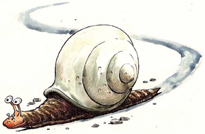 BRIAN Brian was a garden snail who left a shiny, sticky trail as he slid along dragging his behind; ravenous snail-eaters would follow it for metres, it made our Brian an easy chap to find. Brian's wife was Flossy, rather butch and bossy, at night she'd follow it the other way to see where Brian had been, it led her to Irene, so Flossy knew that Brian wasn't gay. But Brian couldn't win, his trail had dobbed him in, he admitted extra-marital offences; if you're that way inclined keep poor Brian in mind... hide your tracks or face the consequences.