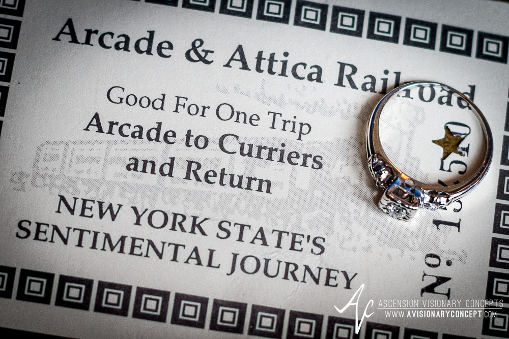 Buffalo Engagement Photography: Arcade & Attica Railroad