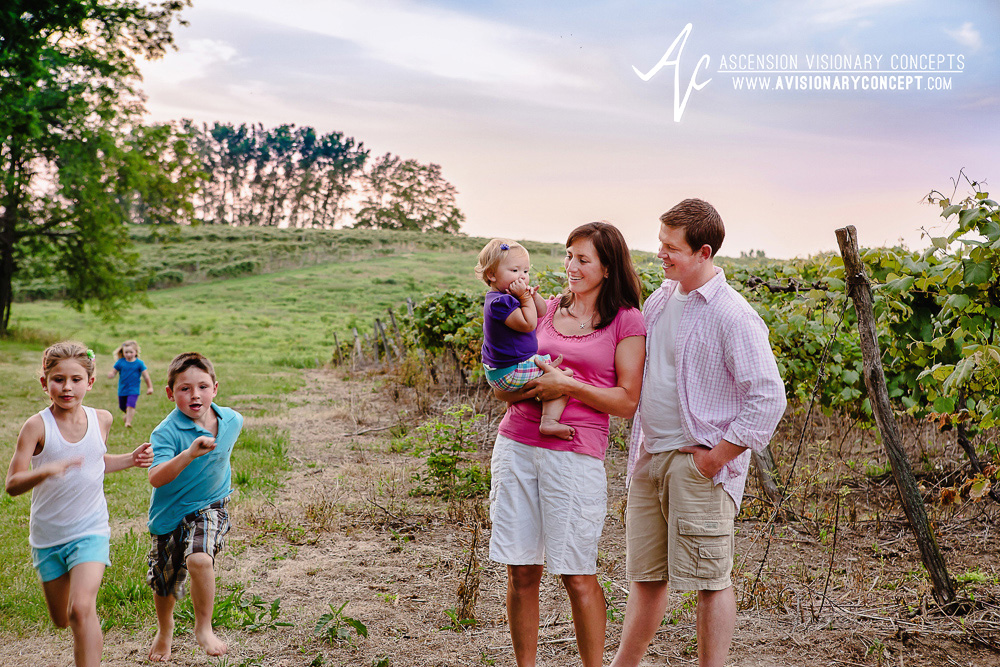 North East PA Family Photography: Ponds and Vineyards