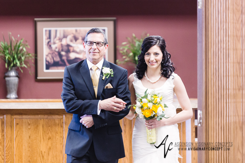 Buffalo Wedding Photography 04 Orchard Park Father Walks Bride Down Aisle.jpg