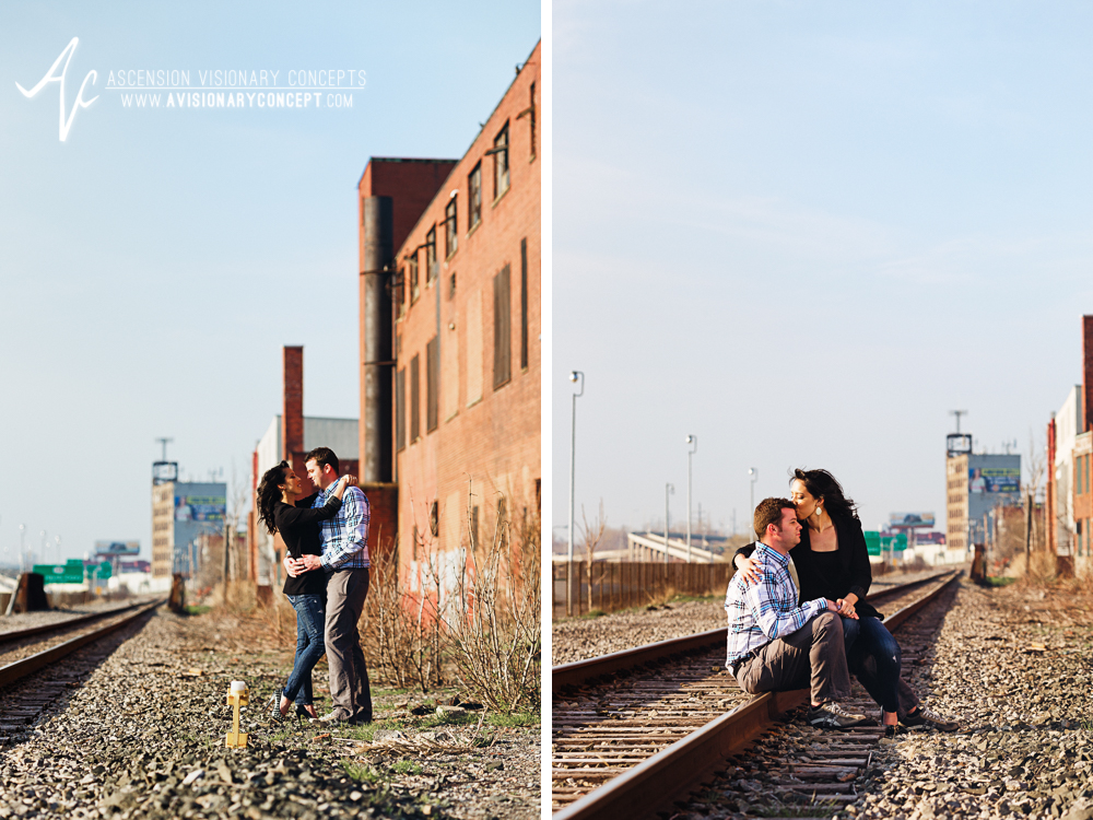 Buffalo Engagement Photography Urban City Anniversary Photography 005 Railroad Tracks.jpg