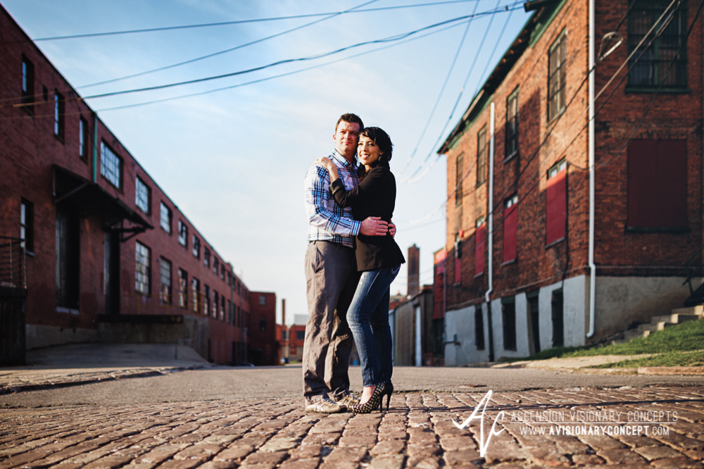 Buffalo Engagement Photography Urban City Anniversary Photography 006 Industrial Buildings Cobblestone.jpg