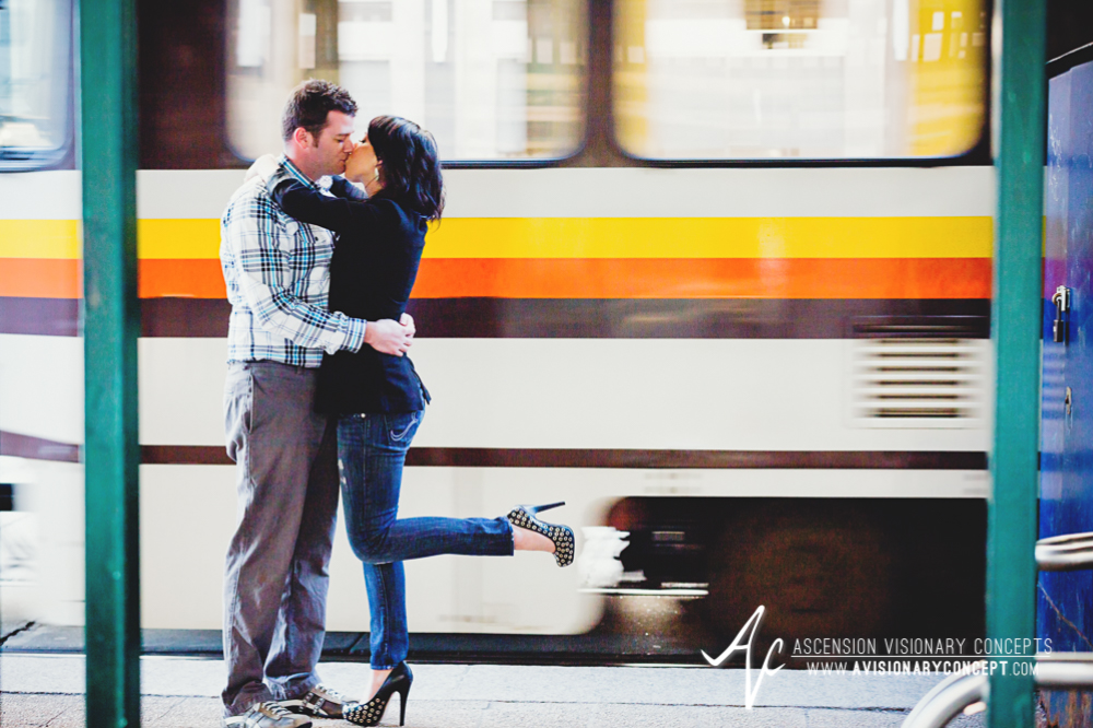 Buffalo Engagement Photography Urban City Anniversary Photography 014 Cityscape Train Subway.jpg